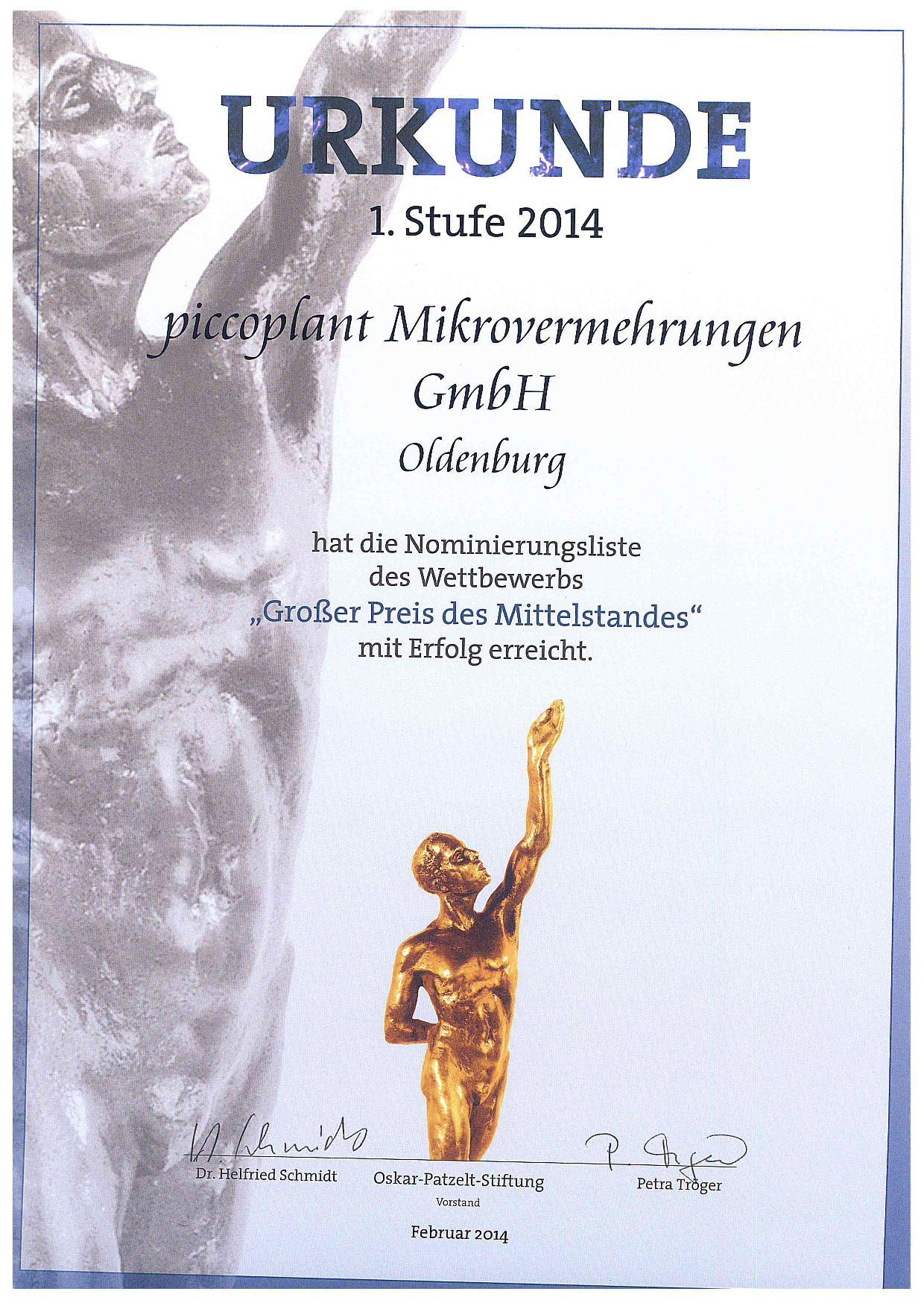 Mittelstandspreis 2014