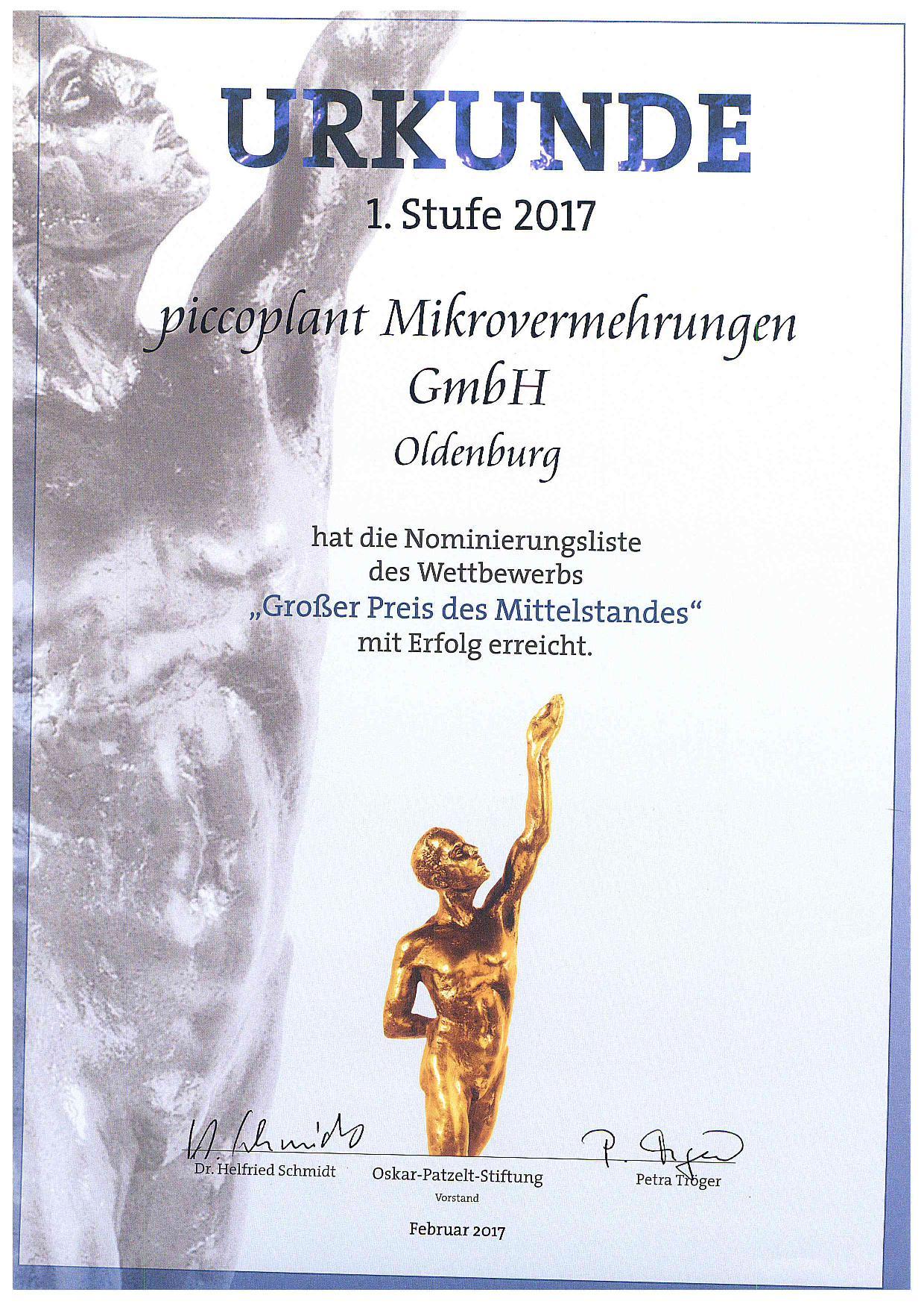 Mittelstandspreis 2017